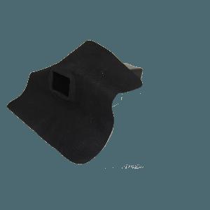 EPDM-regenwaterafvoer 60 mm x 100 mm x 90° uitloop